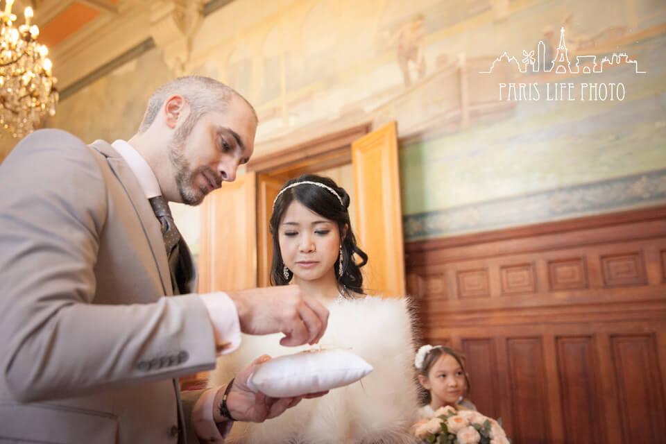 結婚式、指輪