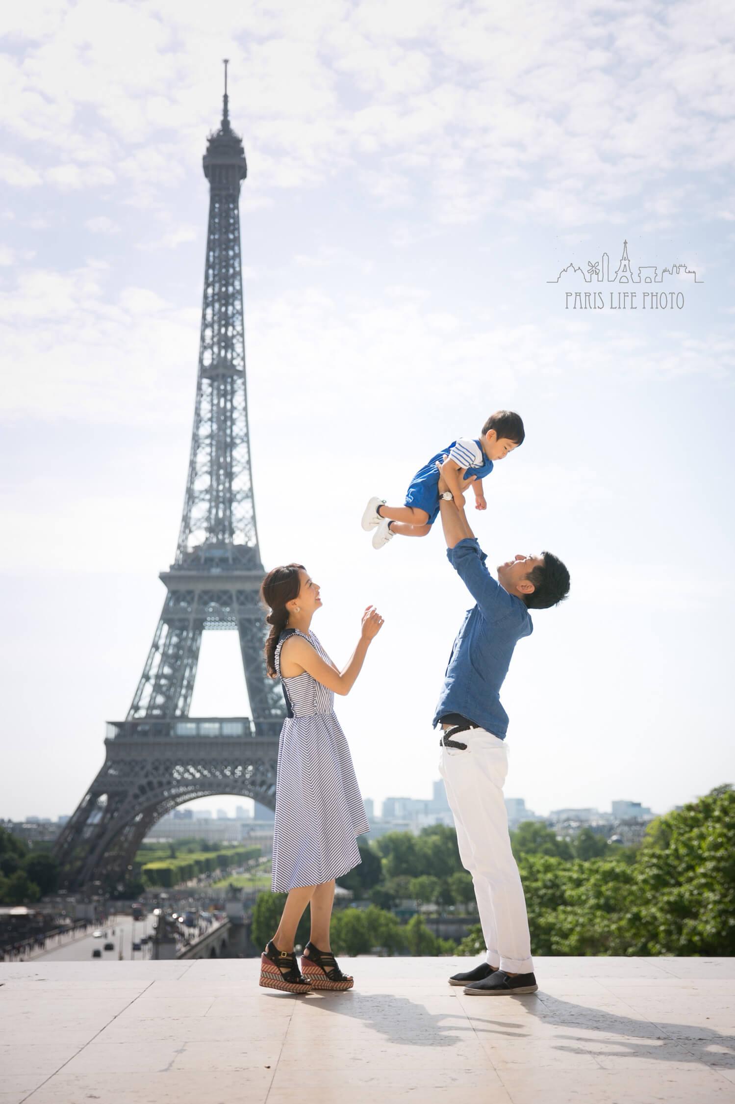パリご家族撮影