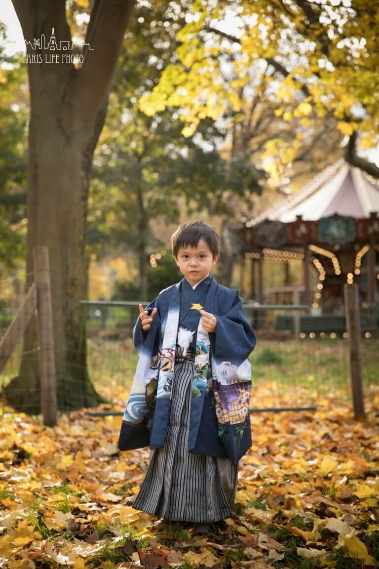 パリで5歳の七五三撮影。