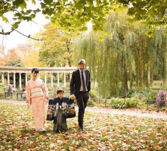 パリで5歳の七五三撮影