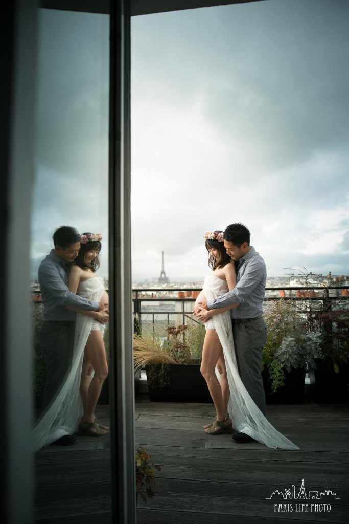 パリでマタニティフォト