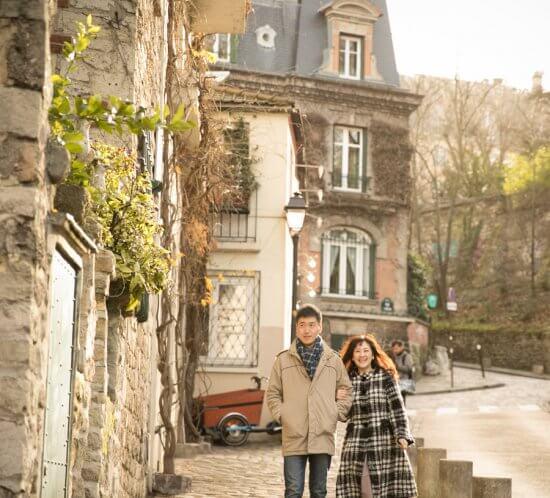 パリで結婚10週年記念撮影