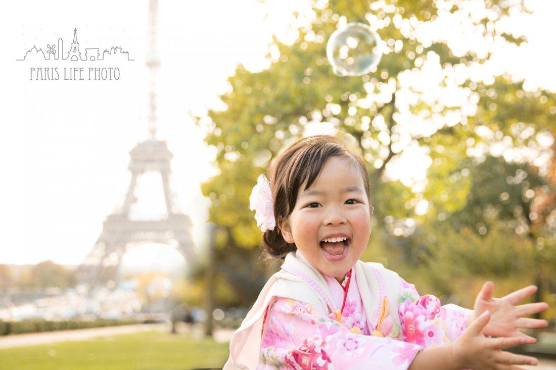 パリで七五三撮影