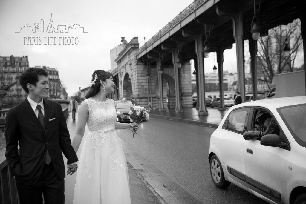 ビラケム橋でブライダルフォト